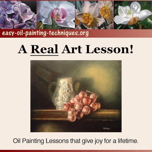 A Real Art Lesson - Oil painting lessons that give joy for a lifetime